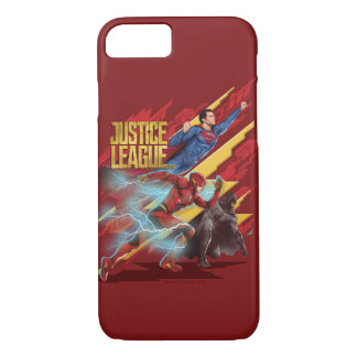 Capa iPhone 8/ 7 Superman da liga de justiça |, flash, & crachá de