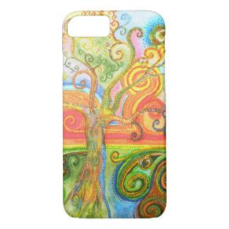 Capa iPhone 8/ 7 Swirly caixa psicadélico colorida do iPhone 7 da