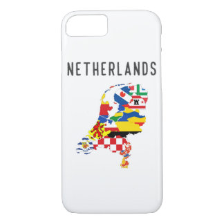 Capa iPhone 8/ 7 Symb holandês do mapa da bandeira da província das