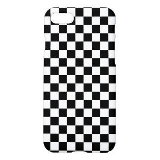 Capa iPhone 8/7 Tabuleiro de damas preto e branco