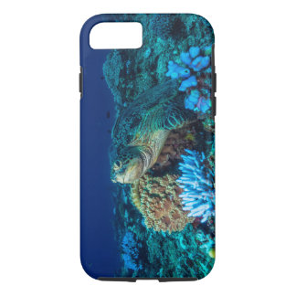 Capa iPhone 8/ 7 Tartaruga de mar no grande recife de coral