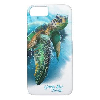 Capa iPhone 8/ 7 Tartaruga de mar verde