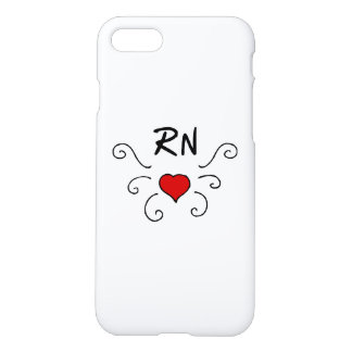 Capa iPhone 8/7 Tatuagem do amor do RN das enfermeiras