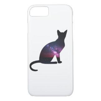 Capa iPhone 8/ 7 Telefone do gato da galáxia