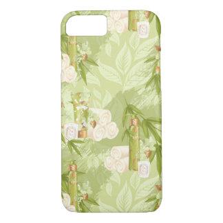 Capa iPhone 8/ 7 Termas verdes, ioga, exercício, bambu