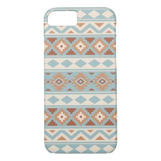 Capa iPhone 8/ 7 Terracottas de creme azuis astecas de Ptn IIIb da