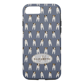 Capa iPhone 8/ 7 terrier minúsculos azul conhecido modelado do