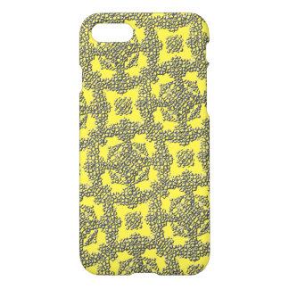 Capa iPhone 8/7 Teste padrão abstrato moderno amarelo da textura