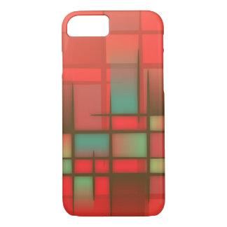 Capa iPhone 8/ 7 Teste padrão alaranjado e azul de Mondrian