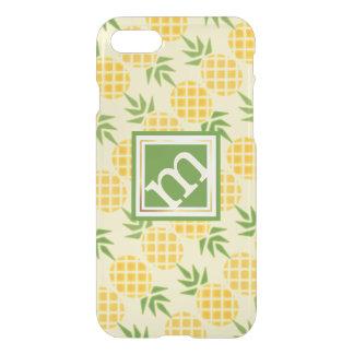 Capa iPhone 8/7 Teste padrão angular do abacaxi, fundo variável