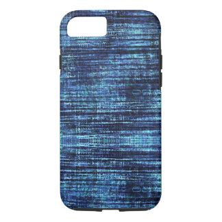 Capa iPhone 8/ 7 Teste padrão azul escuro da sarja de Nimes