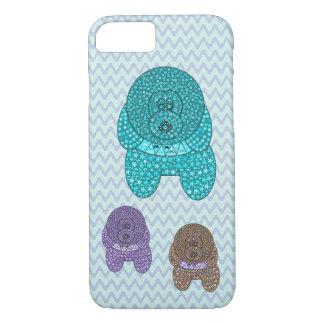 Capa iPhone 8/ 7 Teste padrão bonito do design do amante do cão