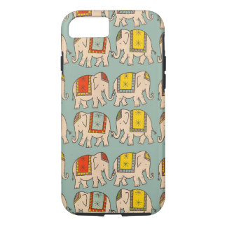 Capa iPhone 8/ 7 Teste padrão bonito do elefante dos elefantes do