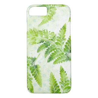 Capa iPhone 8/ 7 Teste padrão botânico da aguarela da samambaia