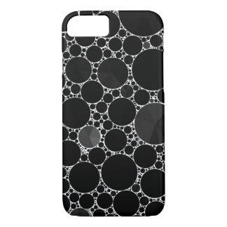 Capa iPhone 8/ 7 Teste padrão brilhante preto de Bling