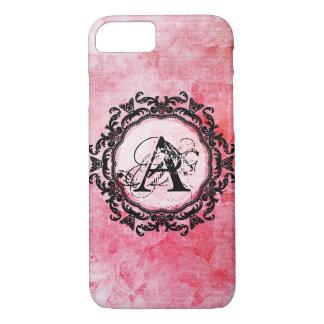 Capa iPhone 8/ 7 Teste padrão chique cor-de-rosa velho cor-de-rosa