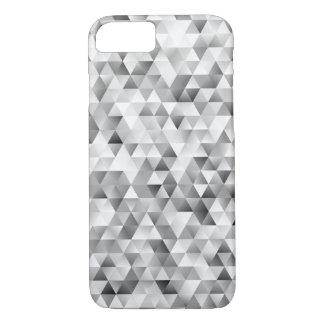 Capa iPhone 8/ 7 Teste padrão cinzento do triângulo