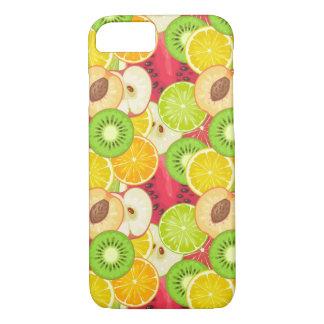 Capa iPhone 8/ 7 Teste padrão colorido da fruta do divertimento
