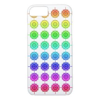 Capa iPhone 8/ 7 Teste padrão colorido do arco-íris mal lá