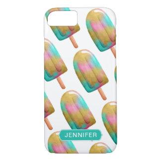 Capa iPhone 8/ 7 Teste padrão colorido legal do Popsicle com