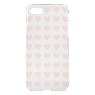 Capa iPhone 8/7 Teste padrão cor-de-rosa do coração