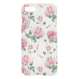 Capa iPhone 8/7 Teste padrão cor-de-rosa dos rosas do Scatter