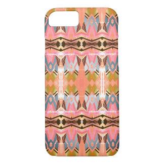 Capa iPhone 8/ 7 Teste padrão cor-de-rosa geométrico do estilo