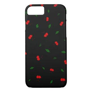 Capa iPhone 8/ 7 Teste padrão da fruta de baga da cereja