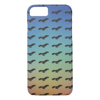 Capa iPhone 8/ 7 Teste padrão da silhueta do preto do pássaro de