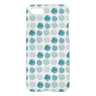 Capa iPhone 8/7 Teste padrão de bolinhas dos azul-céu