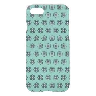 Capa iPhone 8/7 Teste padrão de flores ciano verde