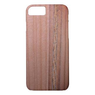 Capa iPhone 8/ 7 Teste padrão de madeira da grão do Sangria