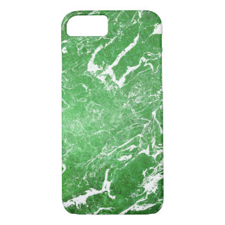 Capa iPhone 8/ 7 teste padrão de mármore verde-claro
