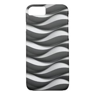 Capa iPhone 8/ 7 teste padrão de onda preto e branco