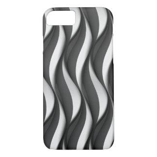 Capa iPhone 8/ 7 teste padrão de onda preto e branco vertical