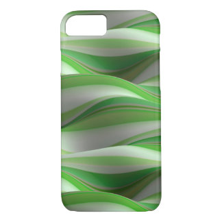 Capa iPhone 8/ 7 teste padrão de onda sombreado verde e branco