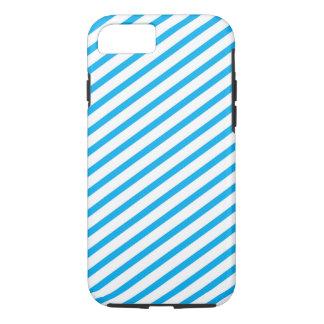 Capa iPhone 8/ 7 Teste padrão diagonal do azul da listra