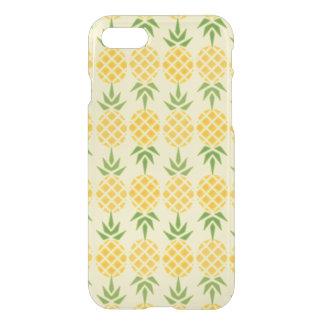 Capa iPhone 8/7 Teste padrão do abacaxi, fundo amarelo variável