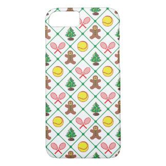 Capa iPhone 8/ 7 Teste padrão do Natal do tênis