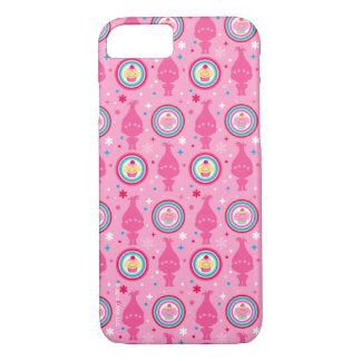 Capa iPhone 8/ 7 Teste padrão dos cupcakes & dos arcos-íris dos