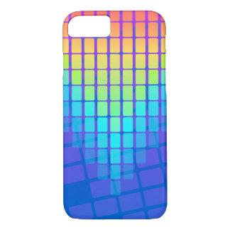Capa iPhone 8/ 7 Teste padrão dos retângulos do arco-íris