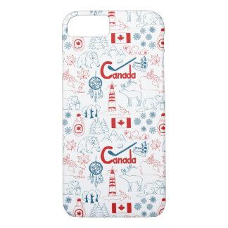 Capa iPhone 8/ 7 Teste padrão dos símbolos de Canadá |