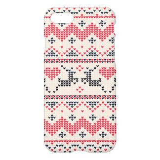 Capa iPhone 8/7 Teste padrão feito malha do Natal do inverno