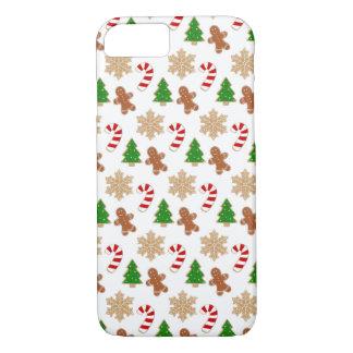 Capa iPhone 8/ 7 Teste padrão festivo do feriado da novidade dos