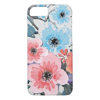 Capa iPhone 8/ 7 Teste padrão floral #4 da aguarela do vintage