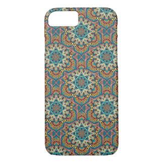 Capa iPhone 8/ 7 Teste padrão floral étnico abstrato colorido da