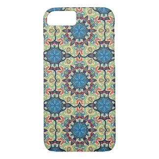 Capa iPhone 8/ 7 Teste padrão floral étnico abstrato colorido de da