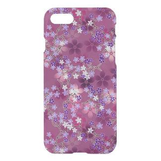 Capa iPhone 8/7 Teste padrão floral roxo oriental do vintage