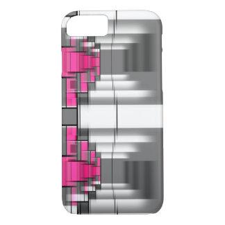 Capa iPhone 8/ 7 Teste padrão geométrico cor-de-rosa do cinza e o