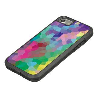 Capa iPhone 8/ 7 Teste padrão geométrico dos cristais abstratos